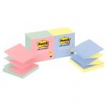 Блок для записей с клейким краем Post-It Classic 4 цвета, неон, 76х76мм, 12х100 листов, Z-блок, R330-U-ALT
