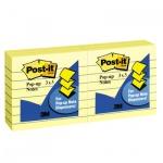 Блок для записей с клейким краем Post-It Classic желтый, пастельный, 76х76мм, 6х100 листов, Z-блок, R335, линованный