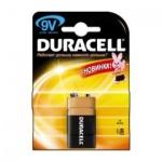 Батарейка Duracell 6LR61/Крона, 9В, алкалиновая, 1шт