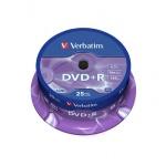 Диск DVD+R Verbatim 4.7Gb, 16х, Cake Box, 25шт