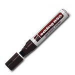 Маркер перманентный Edding 850, клиновидный наконечник, универсальный, заправляемый, черный