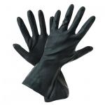 Перчатки защитные Восток-Сервис КЩС тип I, латекс, чёрные, р.2(9)