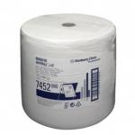 Протирочные салфетки Kimberly-Clark WypAll L40 7452, в рулоне, 750шт, 1 слой, белые