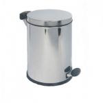 Контейнер для мусора с педалью Hailo 14л, металлик, с внутренним ведром, 0514-060