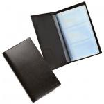 Визитница Askent Befler на 120 визиток, черная, натуральная кожа