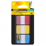Клейкие закладки пластиковые Post-It Professional 3 цвета, 25х38мм, 3х22 листа, в диспенсере, ассорти