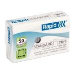 Скобы для степлера Rapid Standard 248 1M №26/6, стальные, 1000 шт