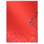 Папка-органайзер Leitz Bebop красная, А4, 4 раздела, 45800025