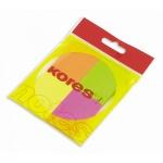 Блок для записей с клейким краем Kores 4 цвета, неон, 50x40мм, 4х50 листов