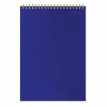 Блокнот Attache Микровельвет, А5, 50 листов, в клетку, на спирали, картон, синий
