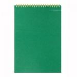 Блокнот Attache Микровельвет, А5, 50 листов, в клетку, на спирали, картон, зеленый