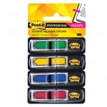 Клейкие закладки пластиковые Post-It Professional 4 цвета, 12х43мм, 96шт, в диспенсере, 684-ARR3