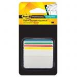 Клейкие закладки пластиковые Post-It Professional 4 цвета, 50х38мм, 4х6 листов, в диспенсере, со сгибом, 686А-1