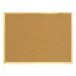 Доска пробковая Attache 150х100 см, коричневая, деревянная рама