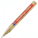 Маркер лаковый Edding 780 золотой, 0.8мм, круглый наконечник, универсальный, корпус из ударопрочного