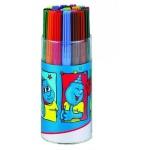 Фломастеры Edding E-1010 24 цвета, смываемые, в пластиковом стакане