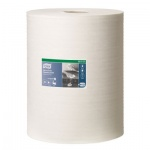 Протирочный материал Tork нетканый W1/W2/W3, 530137, в рулоне, повышенной прочности, 106.4м, 1 слой, белый