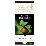 Шоколад Lindt Lindor, темный с ментолом
