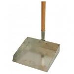 Совок для мусора металлический, с деревянной ручкой