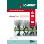 Фотобумага для струйных принтеров Lomond А3, 20 листов, 210 г/м2, мат/глянц, двусторонняя, 102027
