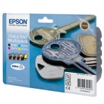 Картридж струйный Epson C13 T04624 A10, 4 цвета, 4шт/уп
