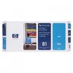 Печатающая головка Hp 81 C4951A, голубая