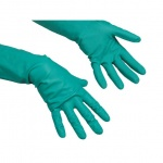 Перчатки резиновые Vileda Pro универсальные L, зеленые, 100802