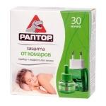 Жидкость для защиты от комаров Раптор на 30 ночей, без запаха
