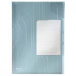 Папка-уголок Leitz CombiFile Premium синяя, A4, 200мкм, 3 шт/уп, 47290035