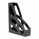 Накопитель вертикальный для бумаг Стамм Лидер А4, 70мм, черный, 2шт, ЛТ128