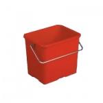 Ведро Vileda Pro 6л, прямоугольное, красное, 500431