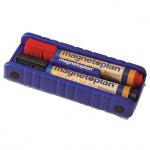 Губка для маркерной доски Magnetoplan 12290 15х5.5х3см, магнитная, синия, с 2 маркерами