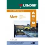 Бумага для принтера Lomond А4, 25 листов, 160 г/м2, матовая, для струйной печати, 102031