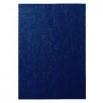Обложки для переплета картонные Gbc LeatherGrain темно-синие, А4, 250 г/кв.м, 100шт