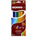 Набор цветных карандашей Kores 12 цветов, с точилкой, 96312.01