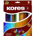 Набор цветных карандашей Kores 24 цвета, с точилкой, 96324.01