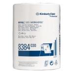 Протирочный материал Kimberly-Clark WypAll X70, 8384, высокая впитываемость, в рулоне, 190м, 1 слой, белый