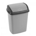 Контейнер для мусора Curver Dominik 10л, с качающейся крышкой, серый-гранит