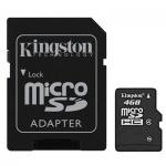Карта памяти Kingston micro SDHC, 4Gb, 4мб/с, с адаптером SD