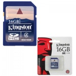 ����� ������ Kingston SDHC, 16Gb, 4��/�