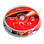 Диск CD-R Vs 700Mb, 52x, Cake Box, 10шт/уп