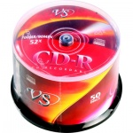Диск CD-R Vs 700Mb, 52x, Cake Box, 50шт/уп