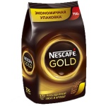 Кофе растворимый Nescafe Gold 750г, пакет