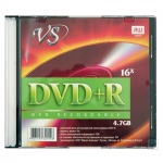 Диск DVD+R Vs 4.7Gb, 16x, Slim Case, 5шт/уп