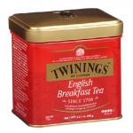Чай Twinings English Breakfast, черный, листовой, 100г, ж/б