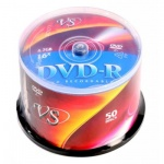 Диск DVD-R Vs 4.7Gb, 16x, Cake Box, 50шт/уп