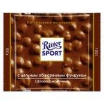Шоколад Ritter Sport 100г с цельным фундуком, молочный