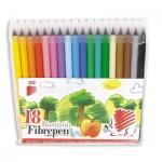 Фломастеры Ico 300, смываемые, 18 цветов
