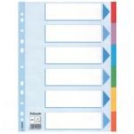 Цветовой разделитель листов Esselte 6 разделов, А4, 100192