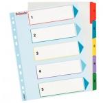 Цифровой разделитель листов Esselte Maxi 5 разделов, А4+, 100207